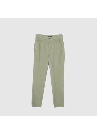 Yargıcı Kadife Dar Paça Pantolon Yeşil